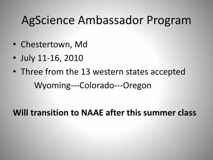 AgScience Ambassador Program