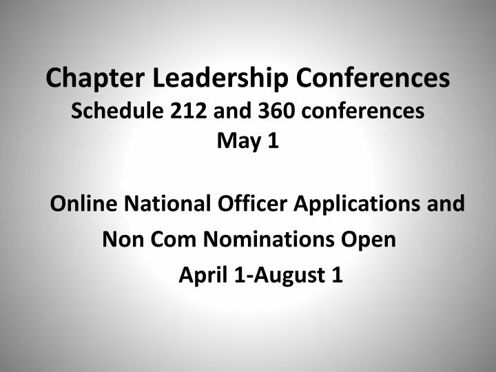 Chapter Leadership Conferences