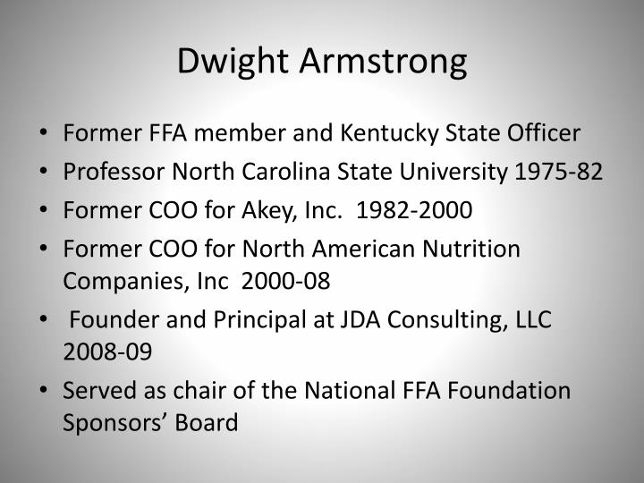 Dwight Armstrong