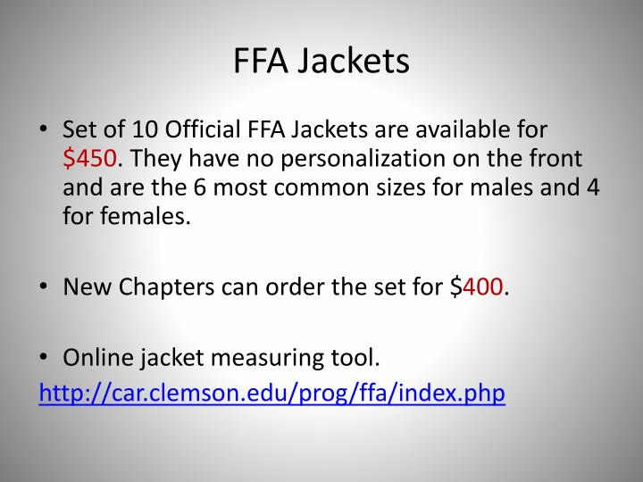 FFA Jackets