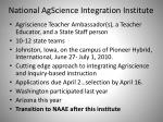 national agscience integration institute