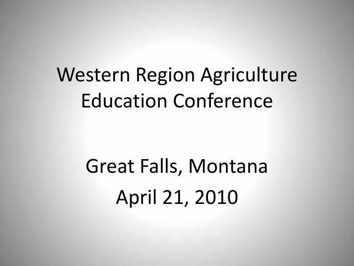 western region agriculture education conference