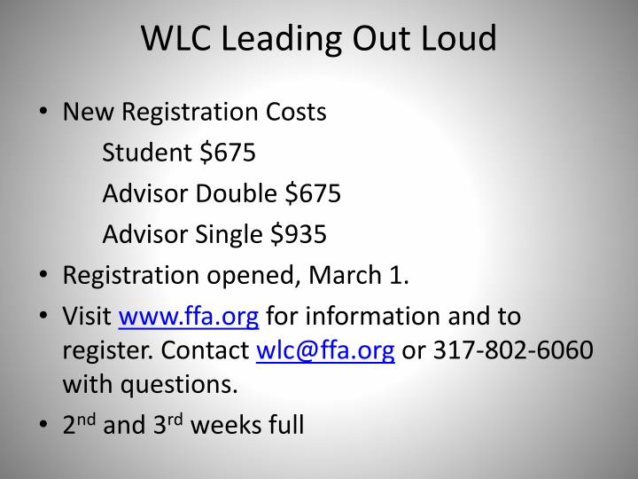 WLC Leading Out Loud