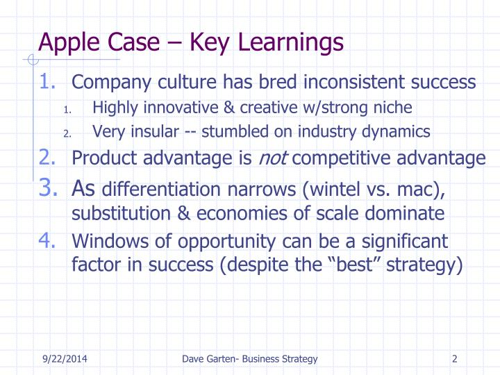 Apple Case – Key Learnings