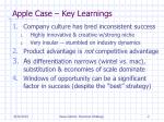 apple case key learnings