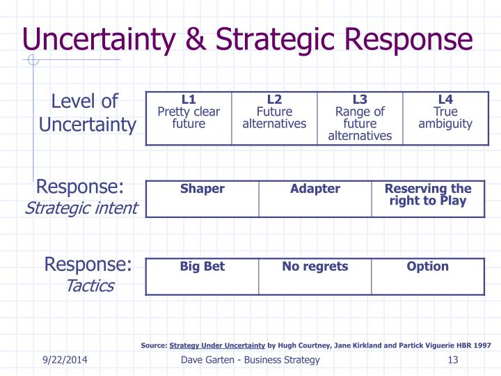 Uncertainty & Strategic Response