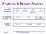 uncertainty strategic response