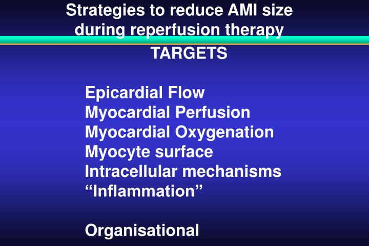 Strategies to reduce AMI size
