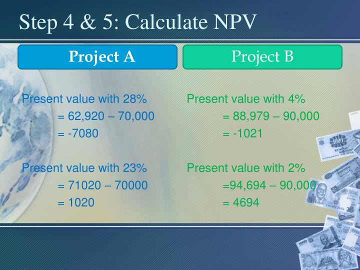 Step 4 & 5: Calculate NPV
