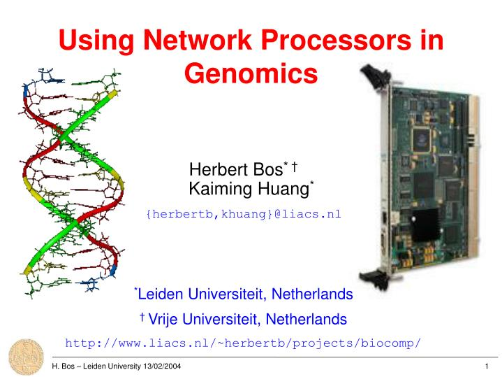 Using network processors in genomics