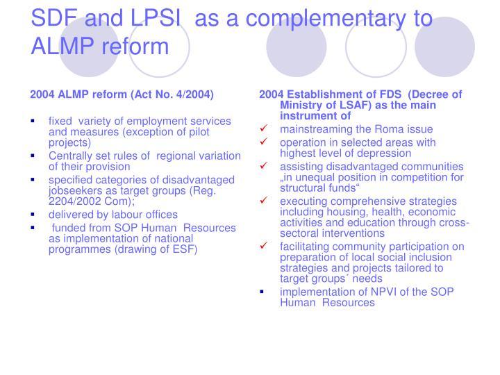 2004 ALMP reform (Act No. 4/2004)