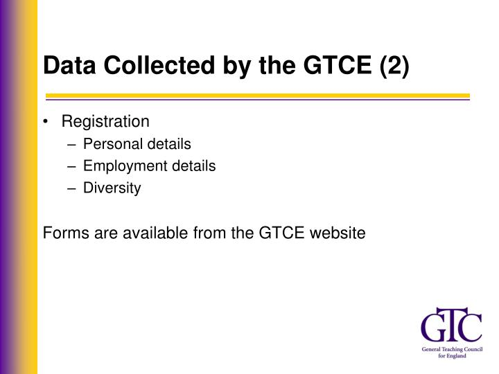 Data Collected by the GTCE (2)