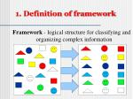 1 definition of framework