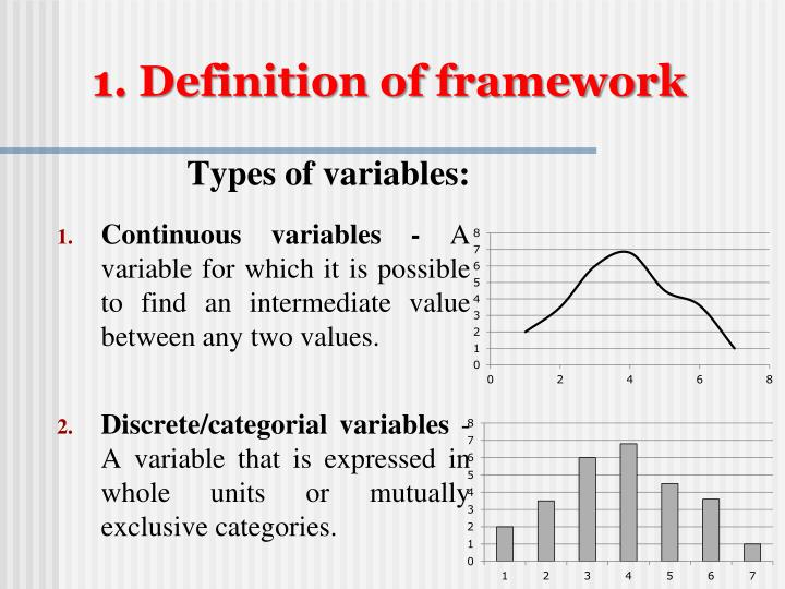1. Definition of framework