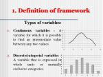 1 definition of framework3