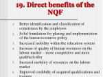 19 direct benefits of the nqf
