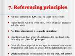 7 referencing principles