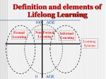 definition and elements of lifelong learning