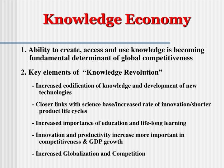 Knowledge Economy