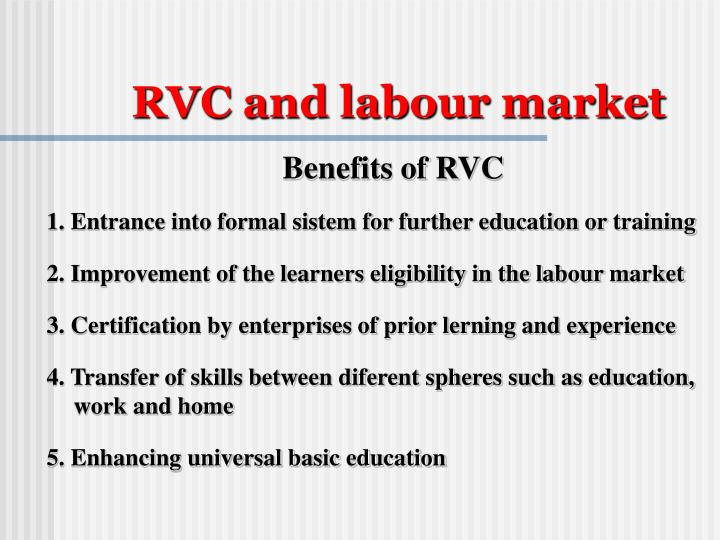 RVC and labour market