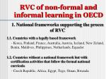 rvc of non formal and informal learning in oecd
