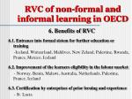 rvc of non formal and informal learning in oecd7