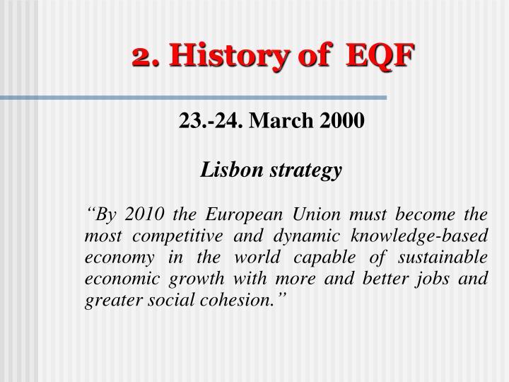 2. History of  EQF