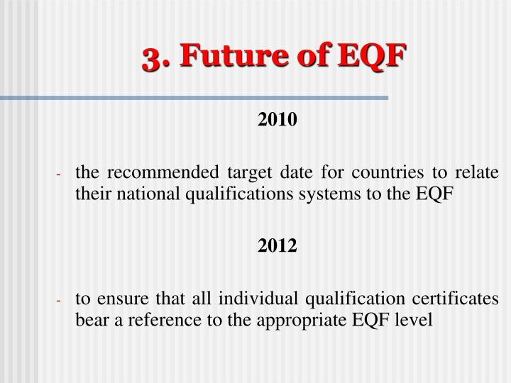 3. Future of EQF