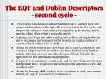 the eqf and dublin descriptors second cycle