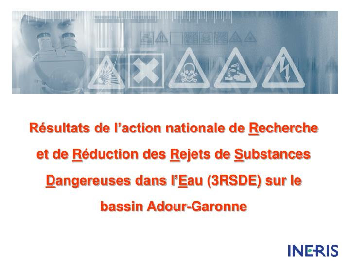 Résultats de l'action nationale de