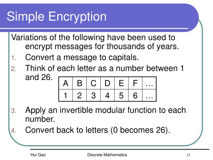 Simple Encryption