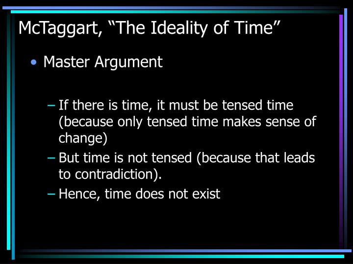 "McTaggart, ""The Ideality of Time"""