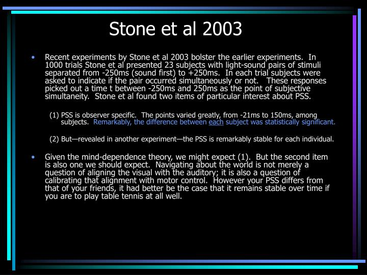 Stone et al 2003