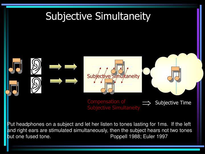 Subjective Simultaneity