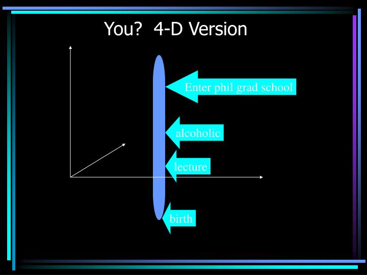 You?  4-D Version