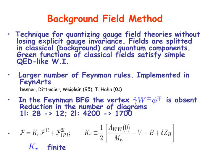 Background Field Method