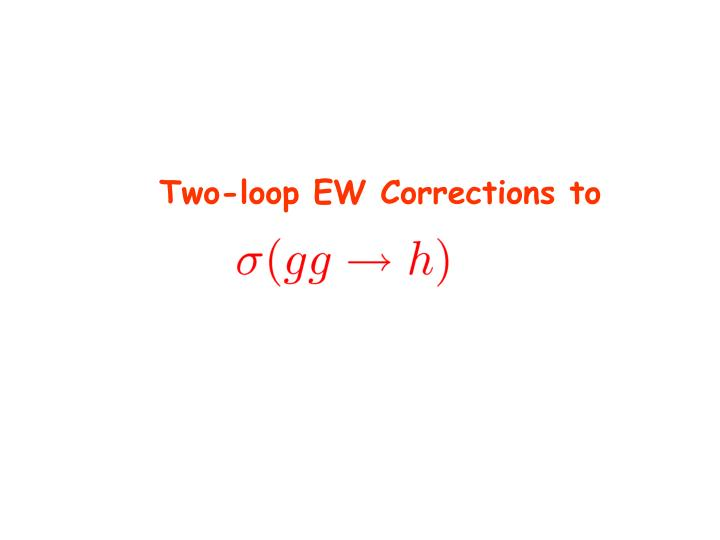 Two-loop EW Corrections to