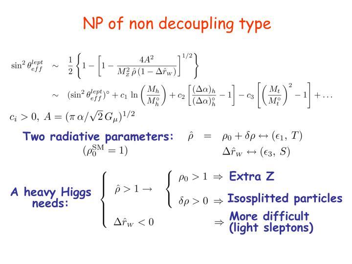 Two radiative parameters: