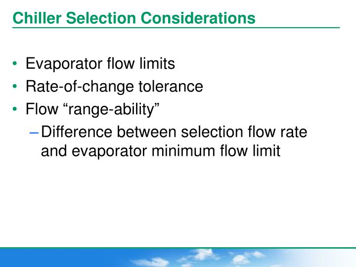 Chiller Selection Considerations