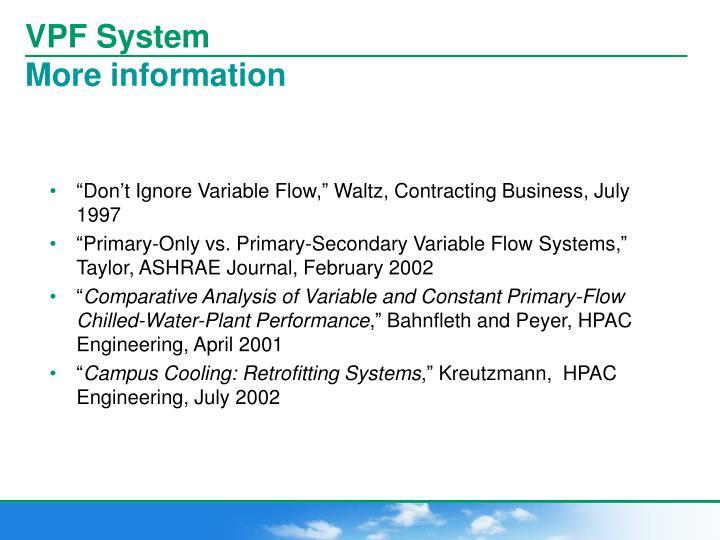 VPF System