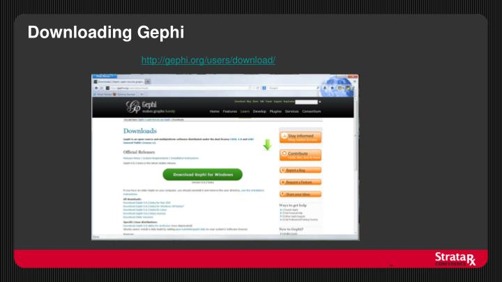 Downloading Gephi