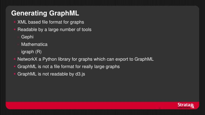 Generating GraphML