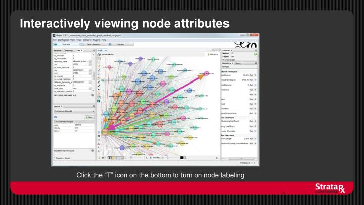 Interactively viewing node attributes