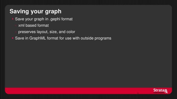 Saving your graph