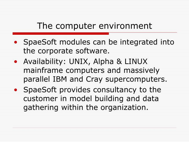 The computer environment