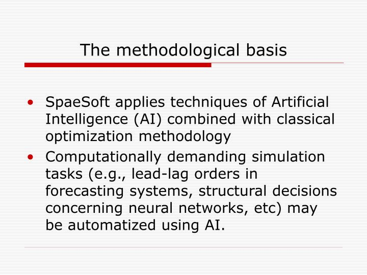 The methodological basis
