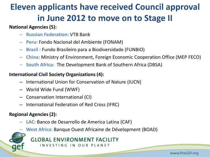 Eleven applicants have received Council approval