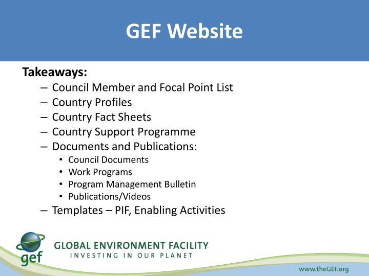 GEF Website