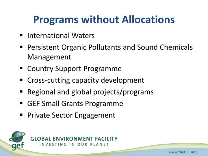 Programs without Allocations