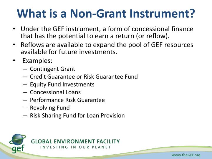 What is a Non-Grant Instrument?